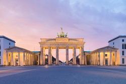 Brandenburger Tor (Brandenburg Gate) , famous landmark in Berlin Germany