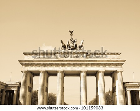 Brandenburger Tor (Brandenburg Gate), famous landmark in Berlin, Germany