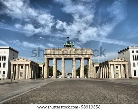 Brandenburger Tor (Brandenburg Gate), famous landmark in Berlin, Germany - high dynamic range HDR