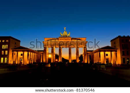 Brandenburger Tor by night