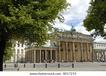 Brandenburger Tor in Berlin, former East Germany