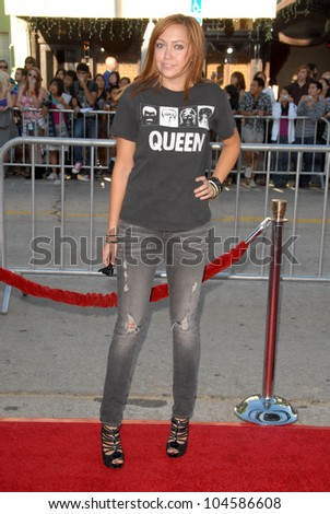 Brandi Cyrus  at the Los Angeles Premiere of 'Bandslam'. Mann Village Theatre, Westwood, CA. 08-06-09