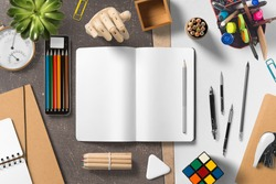 Branding stationery mockup scene, blank objects for placing your design.