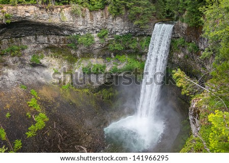 Brandywine Falls is the spectacular 70 metres waterfall in British Columbia, Canada #141966295