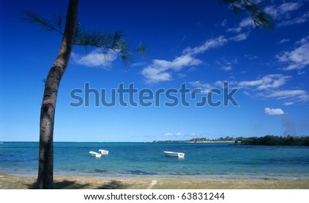 Bras d'eau beach at Mauritius Island, Indian Ocean