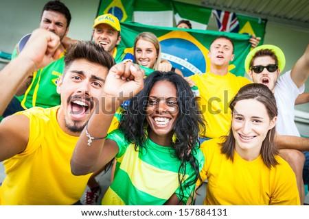 Brasilian Supporters at Stadium