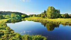 Brasla river in Gauja national park, Latvia