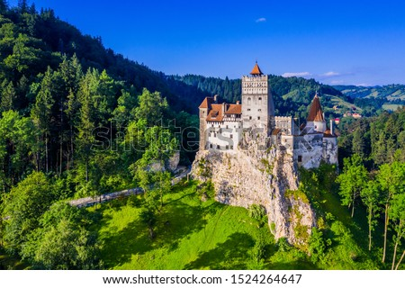 Brasov, Transylvania. Romania. The medieval Castle of Bran, known for the myth of Dracula. Сток-фото ©