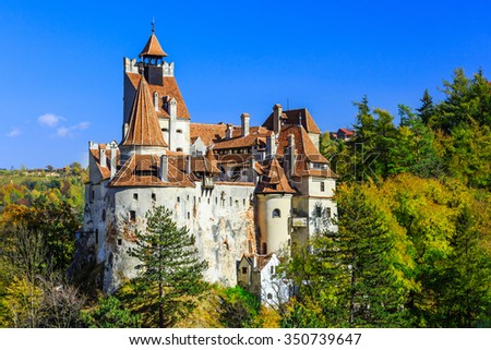 Brasov, Transylvania. Romania. The medieval Castle of Bran, known for the myth of Dracula.