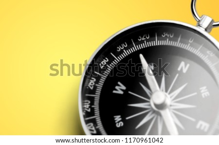 Brass antique compass  on background #1170961042