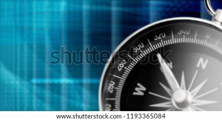Brass antique compass  on background #1193365084