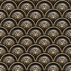 Brass Background with Classic Ornament / Texture of drawer of a beautiful carved floral work