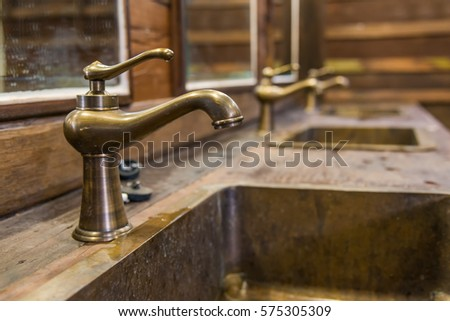 Brass faucet vintage style