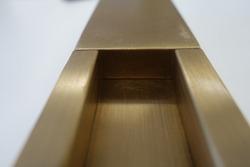brass metal furniture fitting detail