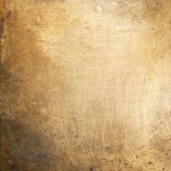 Brass plate texture, old metal background.