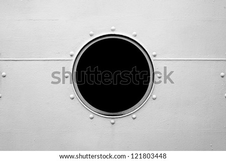 ShutterStock Brass porthole ferry window frame 121803448