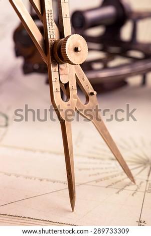 brass proportional divider on...