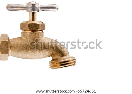 Brass Technical faucet with a shut-off valve and the ability to connect the hose to it for irrigation