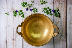 brass wok, Thai traditional cookware, used for cooking desserts or fruit preserves