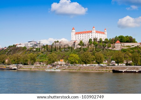 Bratislava castle over Danube