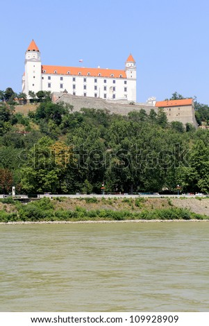 Bratislava castle. Situated on a plateau 85 meters (279 ft) above the Danube. First stone was settled in the 10th century. Slovakia