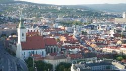 Bratislava City Skyline Cityline Sunset Summer landscape