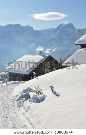 Braunwald, famous Swiss skiing resort