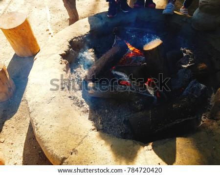 brazier's flame, ingle Foto stock ©