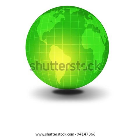 Brazil abstract green earth map for world soccer 2014