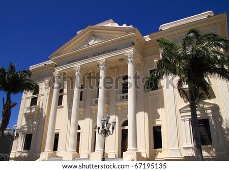 Brazil Alagoas state Maceio Historical center Portuguese colonial building - stock photo