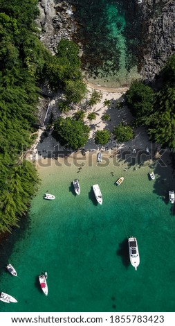 Brazil. Angra dos Reis. Aerial Photography Stock foto ©