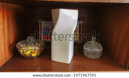 Brazil decoration objects with crystals and a painted picture