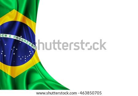 Бразильский флаг для визитки