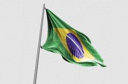 Brazil Flag waving stock Image
