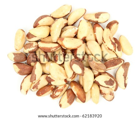 Brazil nuts isolated over white background