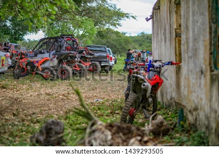 BRAZIL, PALMEIRA DOS ÍNDIOS - APRIL, 2019 - OLD HOUSE WITH RALLY CARS #1439293505