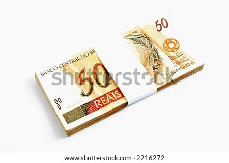 Brazil Real - Brazilian money fifty real.