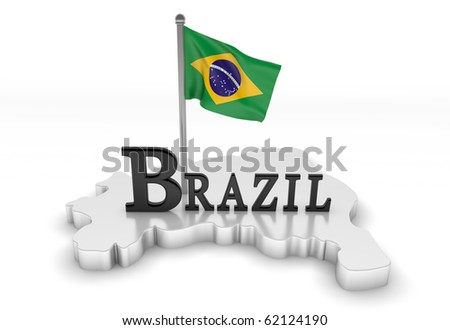 Brazil Tribute/Digitally rendered scene with flag and typography