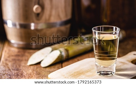 Brazilian drink known as Cachaça, 'pinga', cane or distilled sugar cane. Name given to cognac produced in Brazil. It is used in the preparation of the caipirinha known worldwide. Сток-фото ©