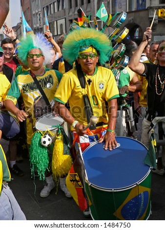 Brazilian Fan in Munic, world cup 2006