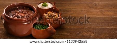 Brazilian Feijoada Food. Outdoor format.
