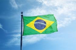 Brazilian flag on the mast