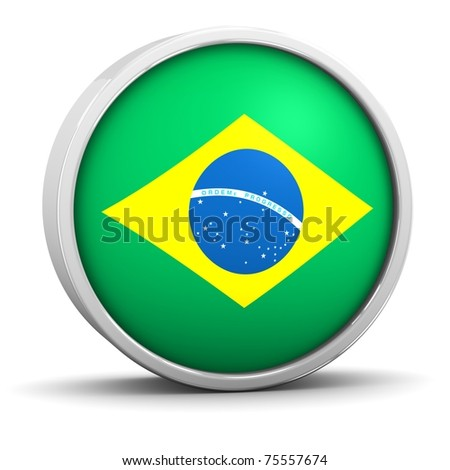 Brazilian flag with circular frame. Part of a series.