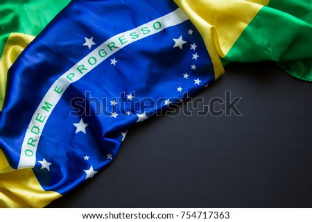 Brazilian flag with space for text