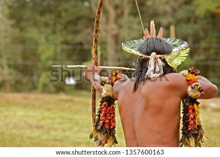 Brazilian Indians of the Pataxó ethnic group