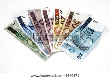 """Coleção """"real"""" brazilian do dinheiro"""