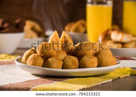 Brazilian snack. Coxinha de Frango. #784213321