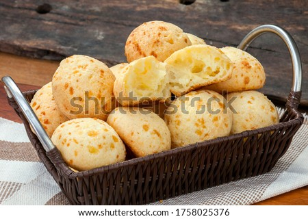 Brazilian snack, traditional cheese bread from Minas Gerais - pao de queijo