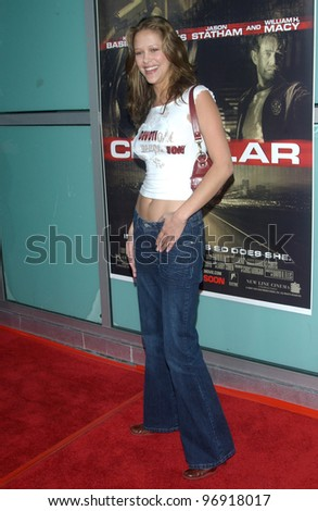 Brazilian supermodel RUBRIA MARCHEENS NEGRAO at the Los Angeles premiere of Cellular. September 9, 2004