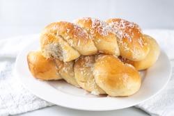 Brazilian sweet coconut buns - Pão Doce de Coco